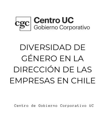 Diversidad de Género en la Alta Dirección de las Empresas en Chile