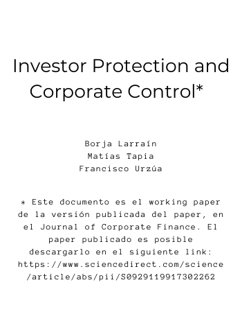 Investor Protection and Corporate Control