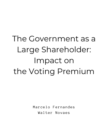 The Government as a Large Shareholder Impact on the Voting Premium