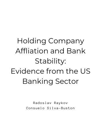Holding Company Affiliation and Bank Stability