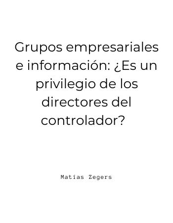 Grupos Empresariales e Información