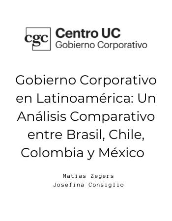 Gobierno Corporativo en Latinoamérica